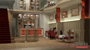 progettazione preliminare render ristorante